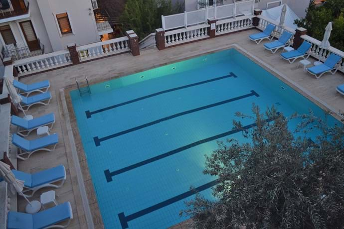 The view of the pool, from Daybreak balcony 1