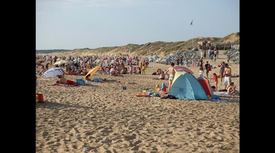 Les plages suveillées sont toujours populaires!