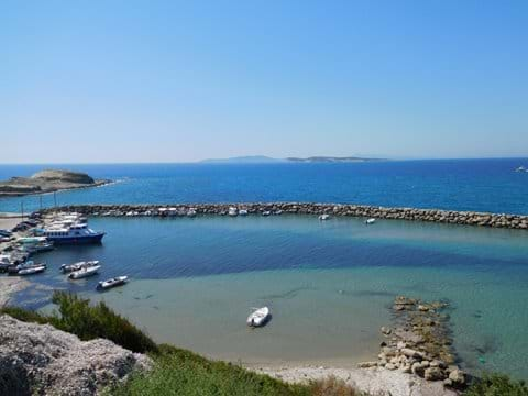 The new harbour at Agios Stefanos