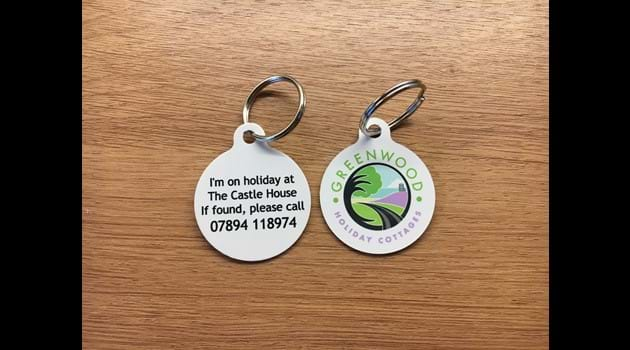 Holiday dog (or wandering hubby!) tags!