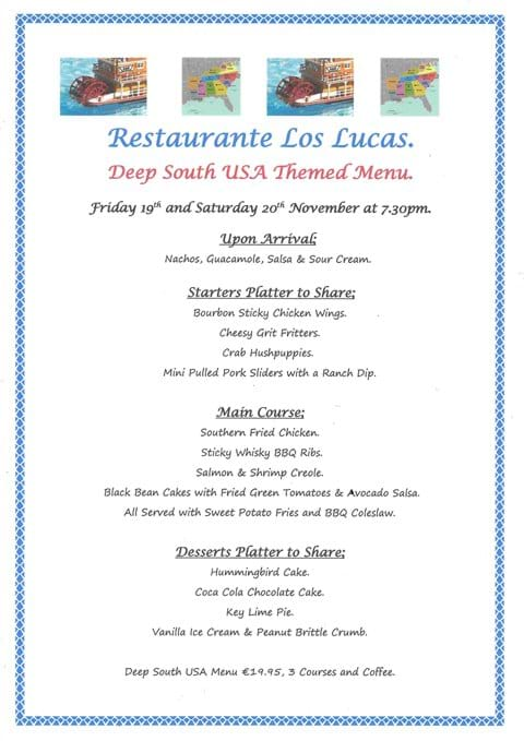 Our Deep South USA Themed Evenings Friday 19th November 2021 and Saturday 20th November 2021 - FULLY BOOKED.