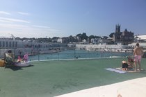 Jubilee Art deco Lido in Penzance (can be seen from Seabreeze balcony)