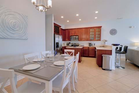 Open Plan Kitchen and Living Area (doors open to pool deck)