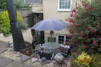 Private and enclosed courtyard garden