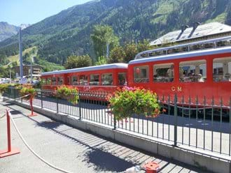 The Train Du Montenvers station is 2 mins walk from The Astor