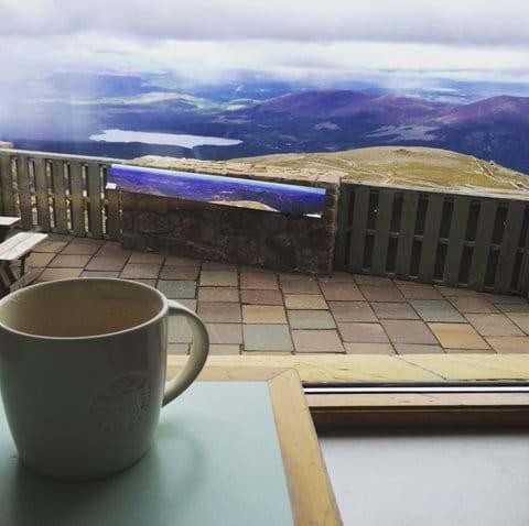 Ptarmigan restaurant at the top of Cairngorm