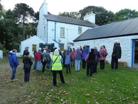 Interested visitors on the farm history tour