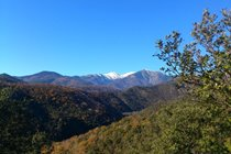 View of Mount Canigou from the top of Casa Sola