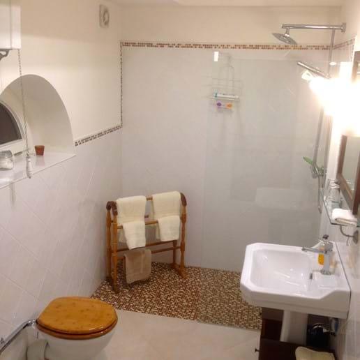 Bathroom 2 with rainshower  (ground floor)