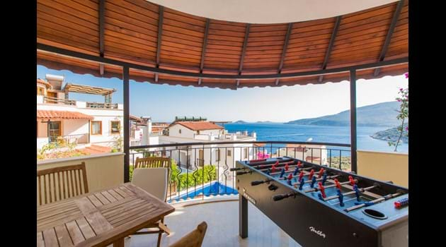 First Floor Balcony and Football Table
