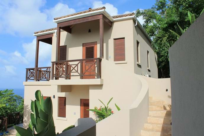 Stairs to the Master Bedroom with private balcony & deck.