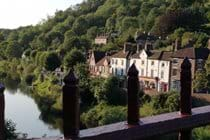 View from the Iron Bridge looking over at Ironbridge View Townhouse