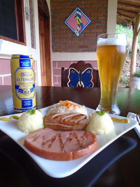 German food and beer