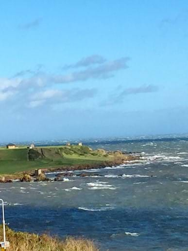 View from the apartment towards Anstruther golf course