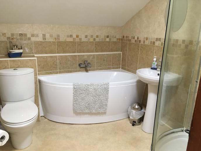 Luxury bathroom with power shower