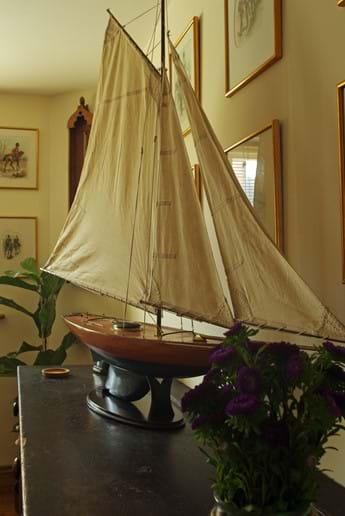 A nautical theme runs through the house