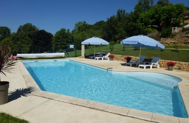 return to the gite from Sarlat and relax by the pool