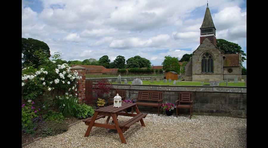 Garden Seating Area overlooking St Mary