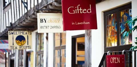Independant shops and boutiques in Lavenham