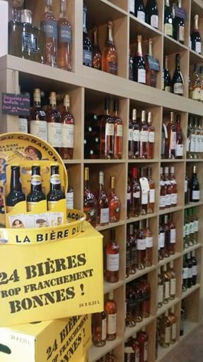 Great selection of wines (and beer!) in the Wine Bar in the Square
