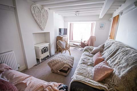 Lounge in holiday cottage on Port Erin beach Isle of Man