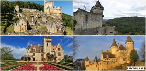 Chateaux de Commarque, Castelnaud-la-Chapelle, Milandes  and Puymartin