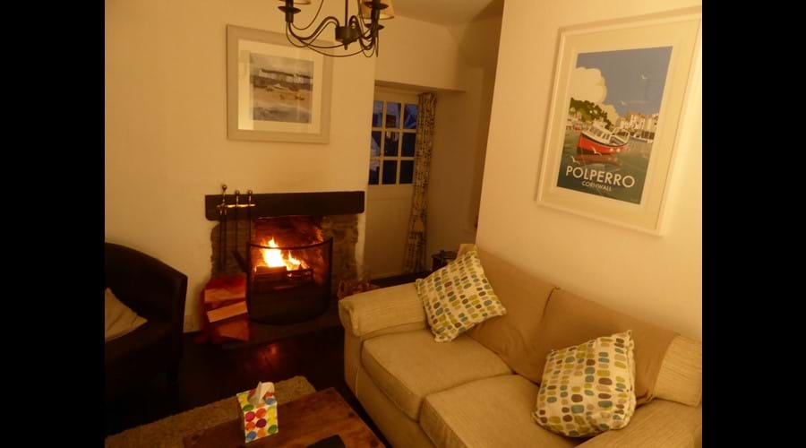 Even in winter the cottage can be cosy!