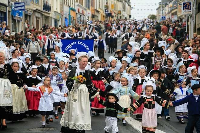 Filets  Bleu Festival at Concarneau