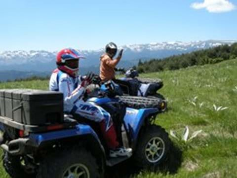 Quad Biking in beautiful countryside