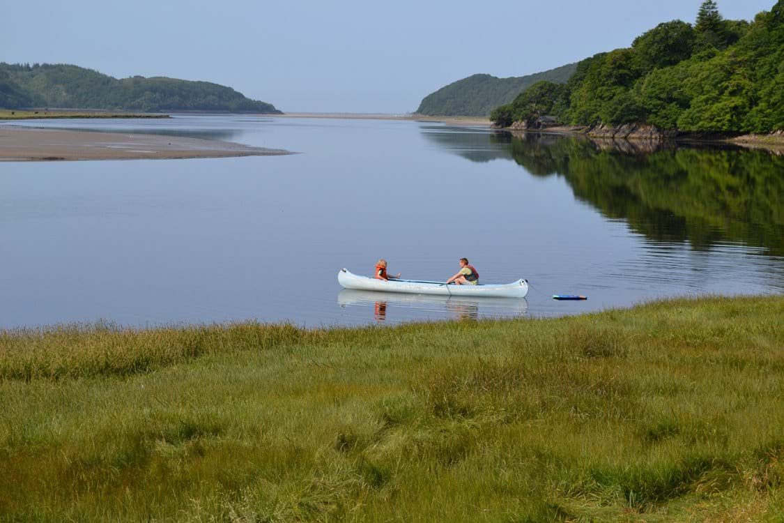 Canoeing on the estuary