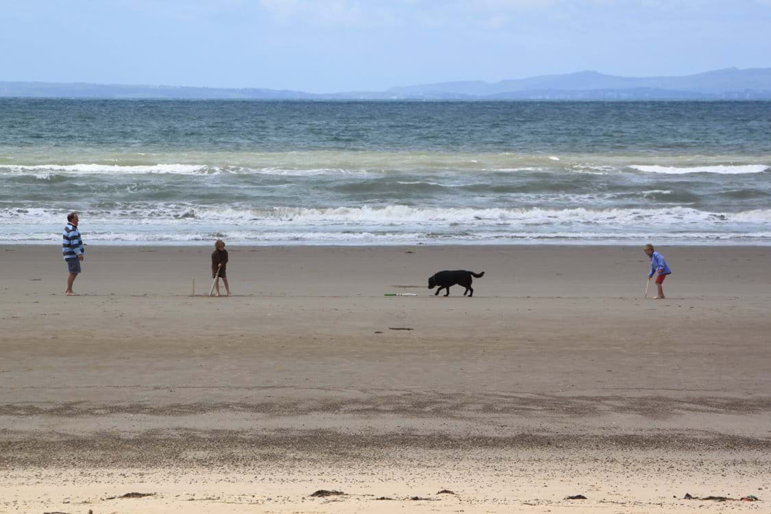 Cricket on Harlech Beach