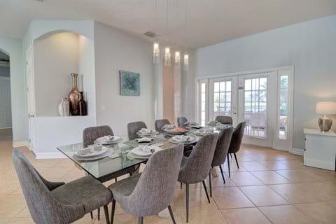 Formal Dining Area (doors open to pool deck)