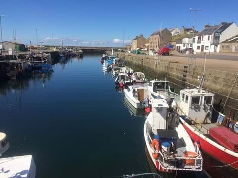Boats in Burghead Harbour