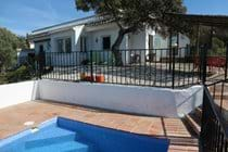Easy few steps from the pool to the casita