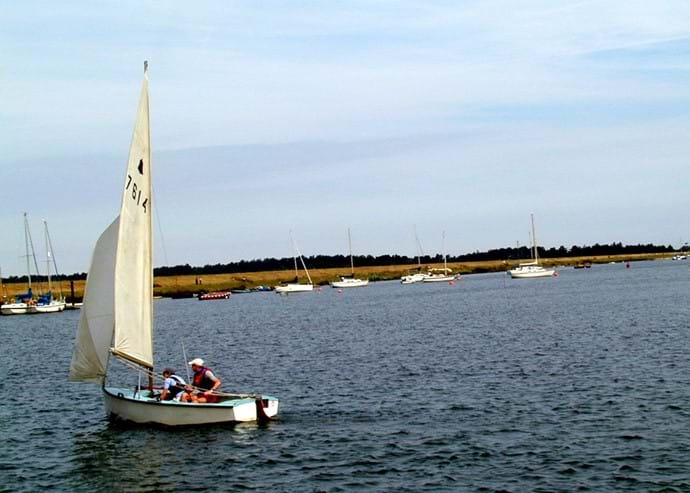 Summer sailing in Wells Harbour