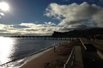 Teignmouth beach looking over to The Ness Shaldon