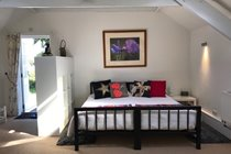 Super King bed in The Hayloft