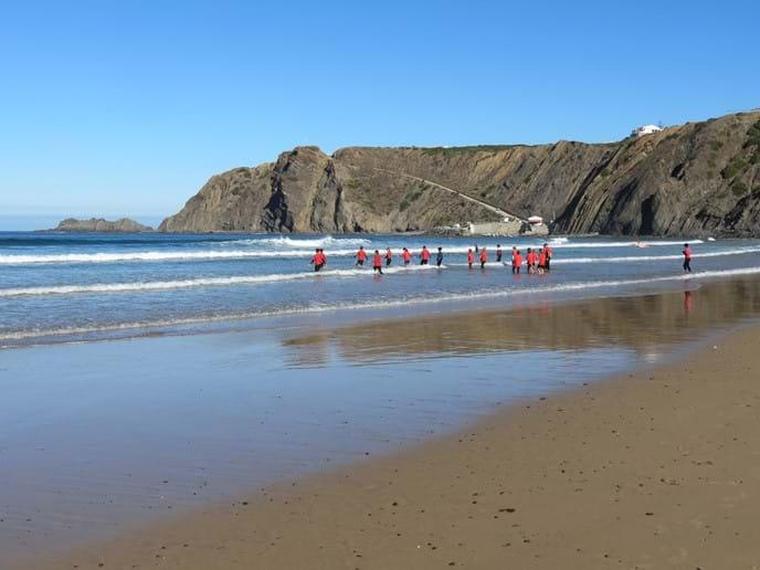 Arrifana surf school in August 2015