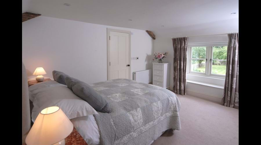 Bedroom 2 double, with ensuite shower room.