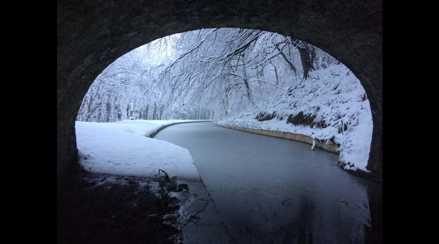 Monmouthshire and Brecon Canal in winter