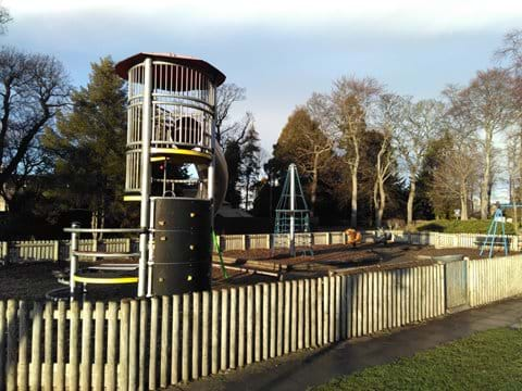 A well-maintained playground next to East Lodge is ideal for young children