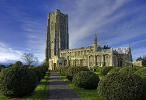 Lavenham church of St Peter and St Paul with the highest village church tower in Britain