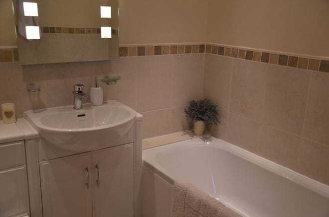 The modern bathroom .... there is also a separate shower room and second toilet.