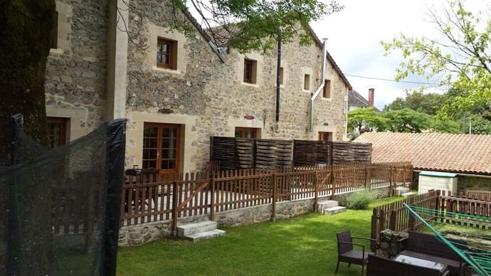 Our 3 gites, private patios for everyone and shared terrace garden to enjoy