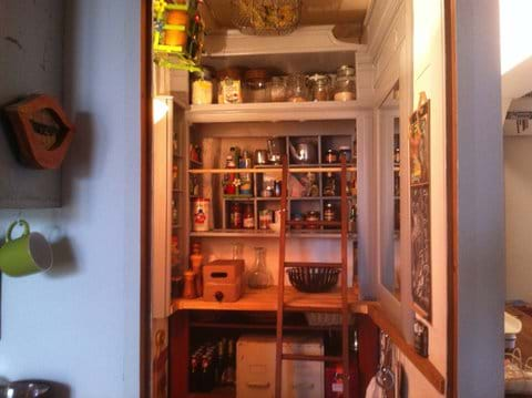 ...herbs and spices are in the pantry