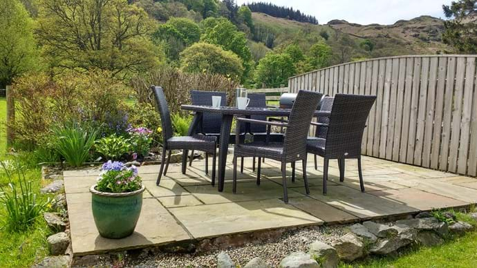 The patio area with al fresco dining and barbeque - and amazing views!