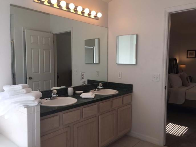 Master Ensuite with Twin Sinks, Walk-in Shower & Separate WC