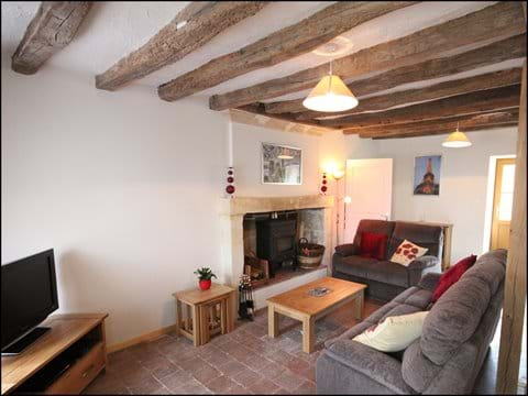 Loire Valley self catering gite lounge.