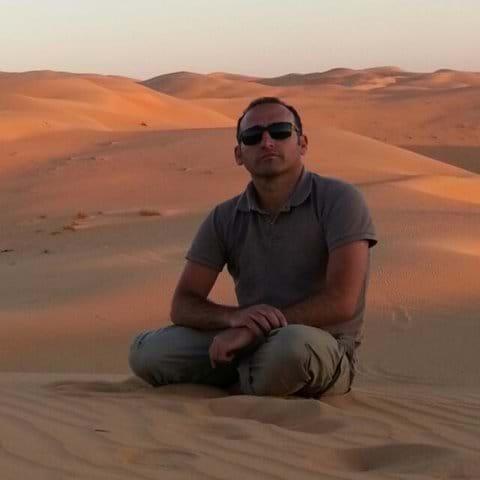 Camping solo in the Arabian desert