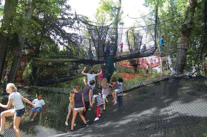 Climbing nets at Fontenay le comte (20 mins from Villa) high up in the trees over looking the historical town, great if you do a bit of shopping and stop off to have a drink and entertain the children for an hour.